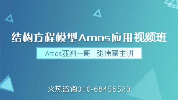 结构方程模型与AMOS应用视频班
