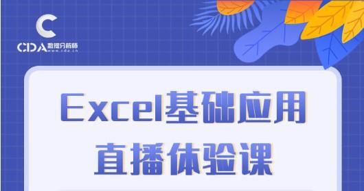 Excel基础应用直播体验课程