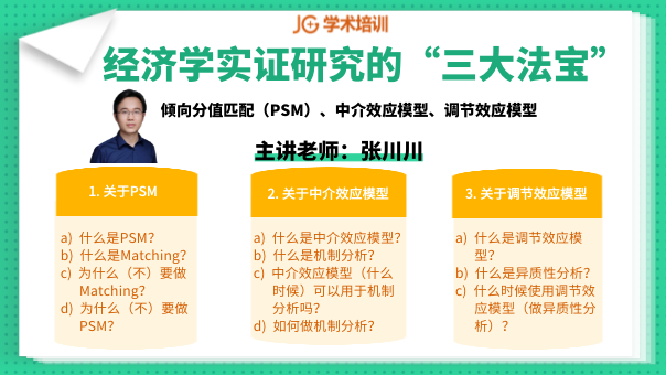 "Stata论文直播丨经济学实证研究的""三大法宝"""