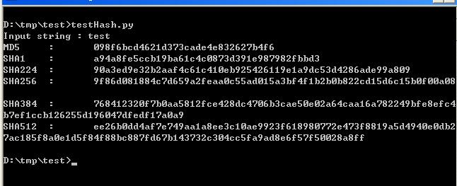 Python和GO语言实现的消息摘要算法示例