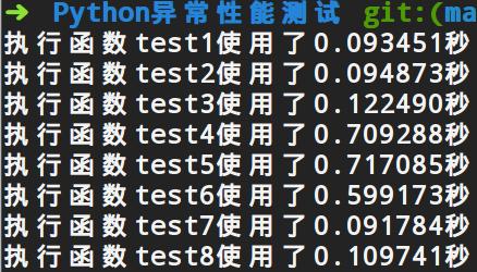 Python异常对代码运行性能的影响实例解析