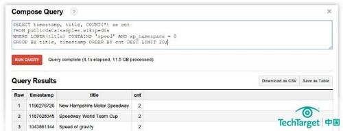 用Google BigQuery做入门级大数据分析