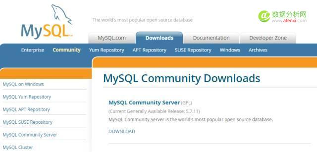 MySQL连接到 R Excel 或SPSS