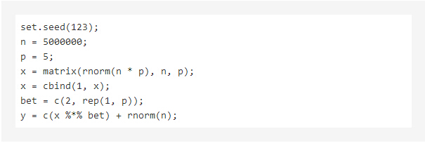R语言中大型数据集的回归